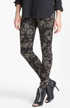 Hue Tonal Floral Jeans Leggings available at #Nordstrom