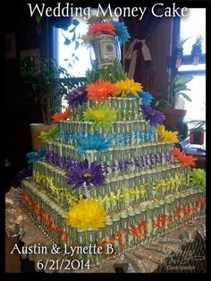 Move it and lose it.: WEDDING MONEY CAKE