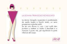 DONNA TRIANGOLO ROVESCIATO Il nostro articolo: http://www.stilefemminile.it/quali-sono-le-forme-femminili/