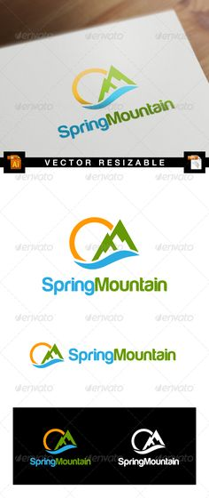 Spring Mountain — Vector EPS #nature #fresh • Available here → https://graphicriver.net/item/spring-mountain/7591978?ref=pxcr