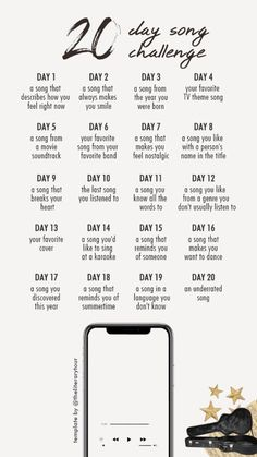 Music Challenge, 30 Day Song Challenge, Journal Challenge, G Song, Tv Theme Songs, Instagram Story Questions, Tv Themes, Instagram Music, Blog Writing