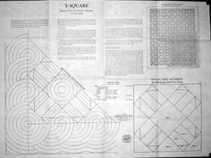 T-Square (The Temperance Quilt) - Patt # 113 - no date found