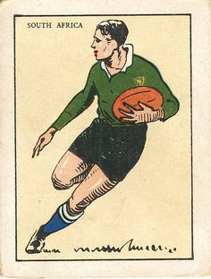 Shop Vintage South Africa Rugby Card created by TheRugbyStore. Rugby Images, Rugby Sport, Rugby 7's, Rugby Club, South African Rugby, Rugby Poster, International Rugby, Sports Graphic Design, All Blacks
