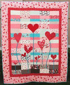 FREE PATTERN: Heart Garden Quilt (from Moda Bake Shop)