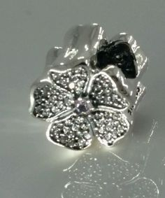 Authentic Pandora Sterling Silver Sparkling Apple Blossom CZ Bead 791831NBP #Pandora