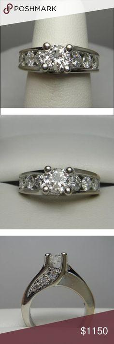 Stunning 1.90 carat 14k white gold diamond ring Stunning 1.90 carat 14k white gold diamond ring Jewelry Rings