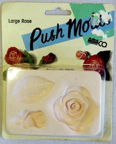 amaco push molds large rose for friendly plastic and polymer clay, 1997