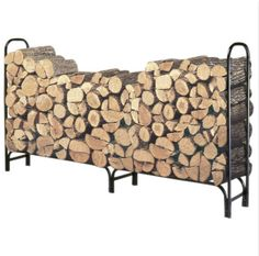 Off Log Rack by Landmann. @ Sturdy and durable, Landmann's firewood racks are made from tubular steel with a black weatherproof powdercoat finish. firewood stacked and off the ground. Indoor Firewood Rack, Firewood Holder, Firewood Logs, Firewood Storage, Log Holder Fireplace, Fireplace Logs, Fireplaces, Fireplace Outdoor, Indoor Outdoor