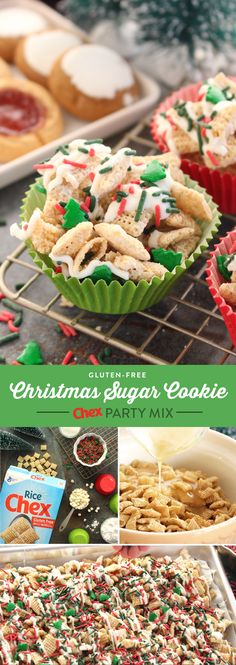 Our recipe for Christmas Sugar Cookie Chex Party Mix has all of the flavor of Christmas cookies in every handful! Ready to serve in 15 minutes, this recipe will keep you out of the kitchen and enjoying the recipe with all of your Holiday guests.