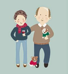 An illustration of my sister and her husband - on my blog today!