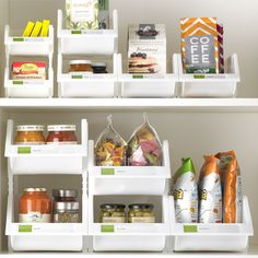 Stacking Bins - from The Container Store - these come in different sizes and are perfect for cabinet organization - bathroom & kitchen sink cabinets.