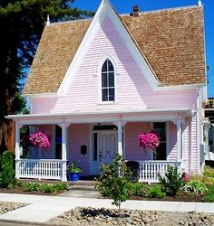 Pink cottage - I want one!!