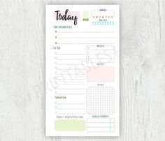 DAILY PLANNER - Personal Planner Inserts Printable To Do List, Personal Planner, Planner Inserts, Personal Size, Daily Planner, Personal Filofax - PDF