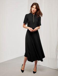 Midi Skirt - Black Black Midi Skirt, Looking For Women, Fashion Brand, Cool Style, Cold Shoulder Dress, Short Sleeve Dresses, Style Fashion
