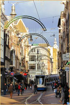 Leidsestraat, Amsterdam: here you'll find lots of cafes and clubs, next to diverse shops.
