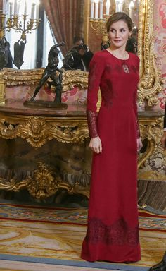 Queen Letizia of Spain receives foreign ambassadors at the Royal Palace on January 26, 2017 in Madrid, Spain