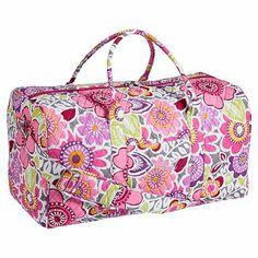Quilted Sleepover Laura Floral Duffle #pbteen