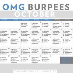 OMG Burpees October Challenge