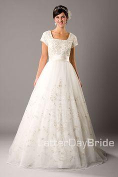 Modest Wedding Dress, Pascaline | LatterDayBride & Prom