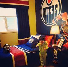 Khaled loves the #Oilers :) - Faheem Fazalbhoy
