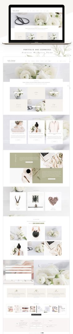 Introducing Kate a elegant and feminine WordPress theme - layout