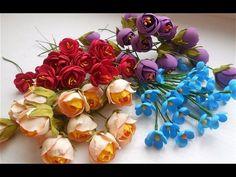 МК Мелкие цветочки из фоамирана для веночков и ободочков. - YouTube