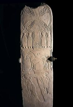Pictish stone cross slab from Papil, Burra, Shetland, 700 - 900 AD