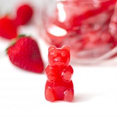5-ingredient Healthy DIY Gummy Bears!! Just like storebought but without the corn syrup, sugar and artificial food coloring!