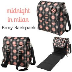 petunia pickle bottom boxy backpack new  fall 2012: midnight in milan