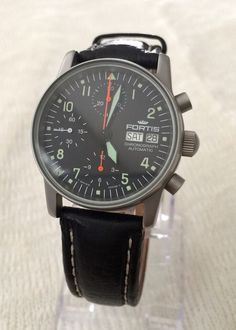 Fortis Flieger Valjoux 7750 Automatic Chronograph Day Date Pilot Military Watch | eBay