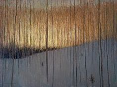 David Grossmann Before the Sun Came Through the Trees Oil on Panel 24 x 30 in Framed x Image Contemporary Landscape, Landscape Art, Landscape Paintings, Art Beat, Winter Landscape, Tree Art, Beautiful Paintings, Painting Inspiration, Pop Art