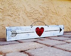 Reclaimed Wood Arrow Sign Set / Funky Signs / by HollyWoodTwine