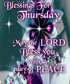 Have a blessed Thursday!