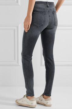 Current/Elliott - The High Waist Ankle Skinny Jeans - Gray - 28