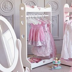 This adorable clothing rail with heart cut outs would add a finishing touch to any little girl's bedroom and is the perfect accessory if you daughter loves to play dress-up.