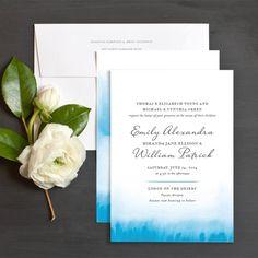 Watercolor Fade Wedding Invitations by Olivia Raufman   Elli