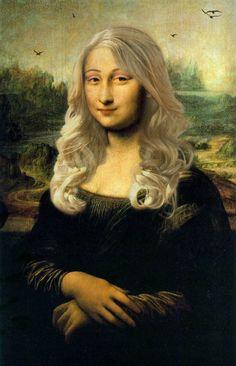 Mona Lisa - New Hair I Love Hair tuo ideoita parturi- kampaamo ja kauneusalojen… Real Mona Lisa, Mona Lisa Smile, Chef D Oeuvre, Oeuvre D'art, Mona Lisa Secrets, Lisa Gherardini, Monalisa Wallpaper, Bd Pop Art, La Madone