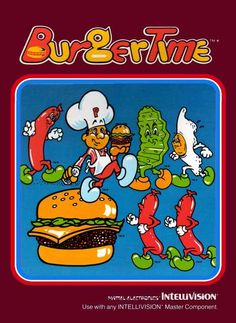 Burger Time by Data East - the Intellivision version was a #retogaming classic, with wonderful box art