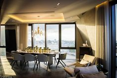 There are also 360 degree views across London through the floor-to-ceiling windows of the ...