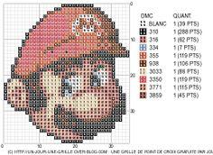mario cross stitch | Cross Stitch / free mario chart