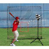 Heater Trend Sports Scorpion Soft Toss Pitching Machine and KingKong Practice Net - http://www.learnpitching.com/how-to-pitch-pitching-baseball-learn-to-pitch-pitching-basicus/arm-strength/heater-trend-sports-scorpion-soft-toss-pitching-machine-and-kingkong-practice-net/
