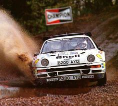 Britain 1986 Stig Blomqvist.  #wrc #wrcofficial #rally #rallye #ford #fordrs200 #rs2oo #groupbrally #1986 #rallycar #worldrally #classic #remember