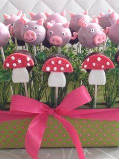 Glücksbringer Cakepops Silvester Schwein Fliegenpilz