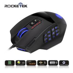 Rocketek 50 to 16400 DPI High Precision Laser MMO Gaming Mouse for PC,18 Programmable Buttons [Compatible with Windows 10] looks fine in design, features and function. The best accomplishment of this product is in fact simple to clean and control. The design and layout are totally astonishing that create it truly interesting and beauty...** View the item in details by clicking the VISIT button..