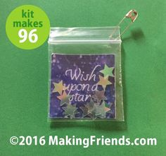 """Girl Scout Swaps Craft Kit """"Wish Upon a Star"""""""