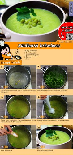 Erbsencremesuppe Rezept mit Video - Suppenrezepte/ schnelle Rezepte - Çorba Tarifleri - Las recetas más prácticas y fáciles Real Food Recipes, Vegetarian Recipes, Cooking Recipes, Yummy Food, Healthy Recipes, Cream Soup Recipes, Sports Food, Food Hacks, Food Videos