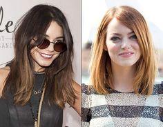 Vanessa Hudgens & Emma Stone do new midi length hair cut trend