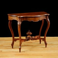 French Antique Louis Philippe Console Table in Cuban Mahogany with Zinc-Lined Cellarette, c. 1830
