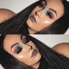 """""""Full Details On this Pop of Color Look, Inspired by @irisbeilin   ______________________________________  Eyes 