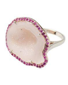 Kimberley McDonald Purple Diamond  Agate Ring in White Gold. via -  Diamonds In The Library.